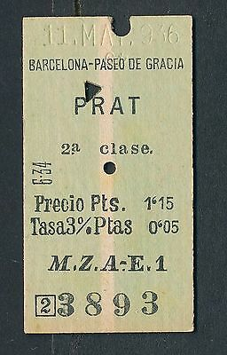 QPA34d SPAIN 2nd cl Barcelona Paseo de Gracia - Prat 1936