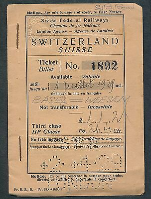 QPB18d SWITZERLAND 1929 Cover only