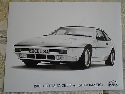 Lotus Excel SA press photo brochure 1987
