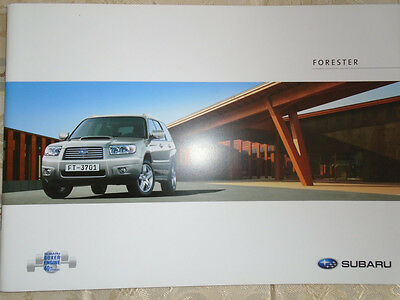 Subaru Forester brochure 2007 French text