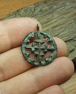 "Fine Viking pendant "" Cross in a circle"". Kievan Rus. Viking. ca1000--1100 #2149"