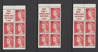 1967 5c on 4c BOOKLET PANES x 3, Mint Never Hinged