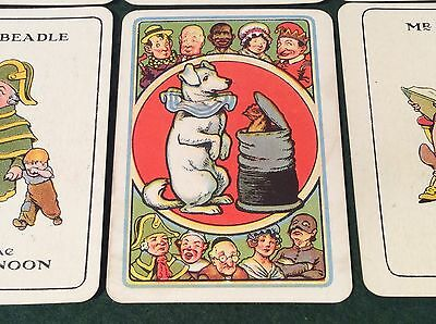 ANTIQUE 1920s TOBY'S FAMILY PLAYING CARDS GAME 48 Diff DOG Jack Ketch BLACKAMOOR