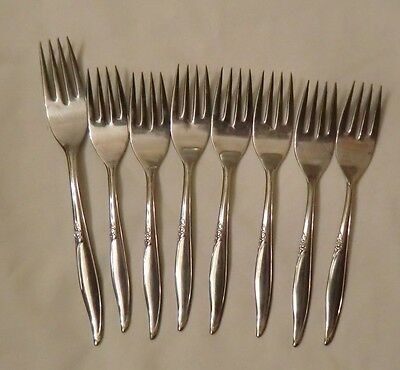 7 Oneida Stainless Steel  Forks Flatware Kenwood Forever Rose New