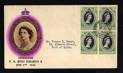14104-TRINIDAD & TOBAGO-COVER PORT-PRINCE.1953.BRITISH.Coronation ELIZABETH II