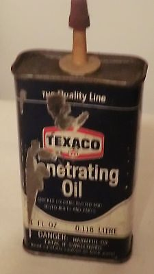 Texaco Penetrating Oil 4 Oz Empty  Can Vintage.
