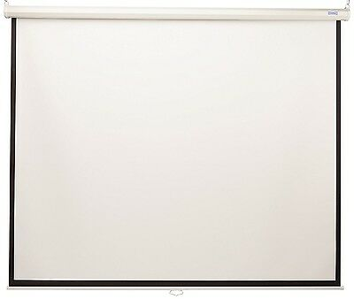 Da-Lite Model B Projection Screen 1:1 Manual Pull Down Matte White 40197