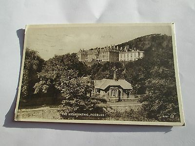 Postcard of The Hydropathic, Peebles 8061JV posted 1949 Valentine's Sepiatype