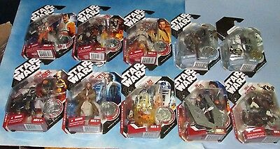 Star Wars Exclusive McQuarrie Concept Action Figure LOT Of 10 Figures Nice Cards