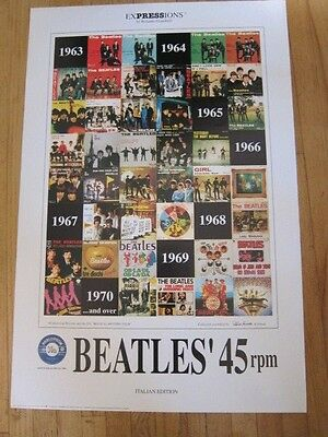 BEATLES 45 rpm Italian Picture sleeves poster 24x36