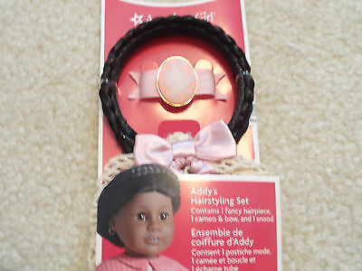 American Girl  Addy Original Retired Hairstying Set Pink Cameo + Bow Nip