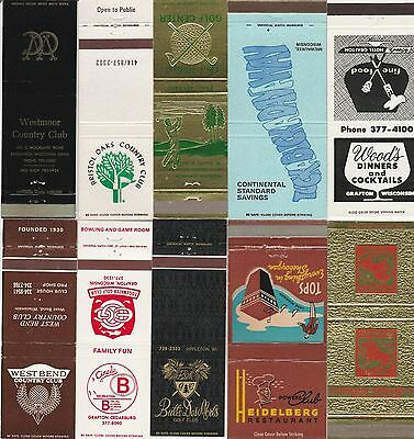 Lot Of 18 Different Wisconsin Matchbook Covers.  #5