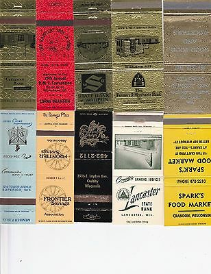Lot Of 18 Different Wisconsin Matchbook Covers.  #2
