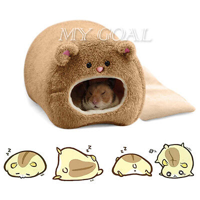Soft Warm Hammock Hanging Bed Nest Toy House for Hamster Rat Squirrel Pet + Pad