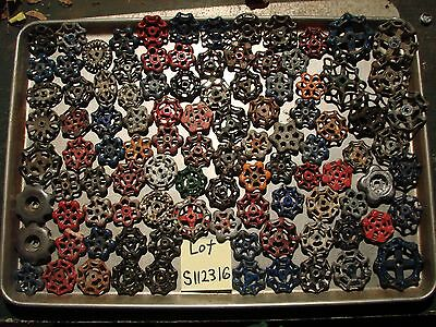 Lot  101 Vintage Water Faucet Knobs Valve Handles STEAMPUNK Industrial Cast Iron