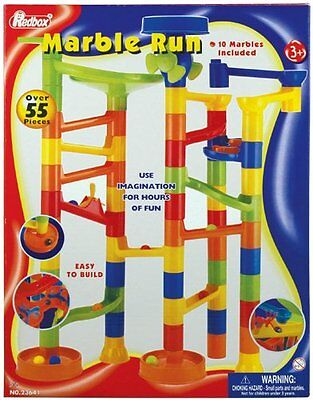 NEW Marble Run building race set 55 piece 10 marbles