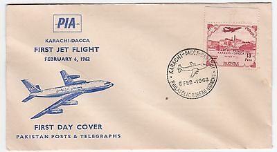 Pakistan Karachi - Dacca PIA First Jet Flight FDC Cover