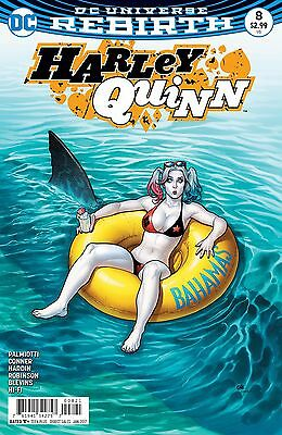 HARLEY QUINN #8, VARIANT, New, First Print, DC REBIRTH (2016)