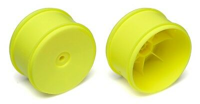 Team Associated 1/10th Scale 61mm Rear Buggy Wheels Yellow (2)  ASC91571