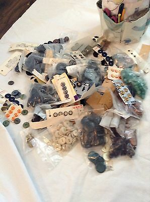 Large Assortment Vintage Sewing Buttons