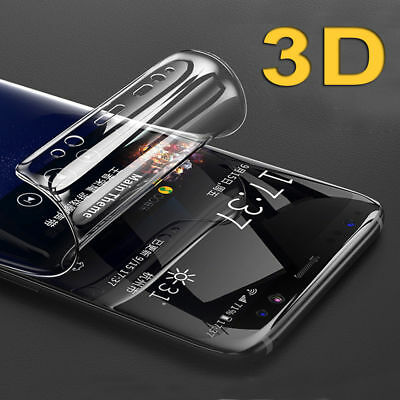 full Front +Back Clear TPU Screen Protector Guard Film For Samsung S7 S6 S8 Plus