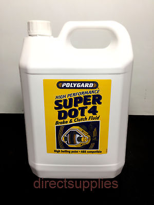 5L Dot 4 Synthetic Brake Fluid - Free Tracked Postage