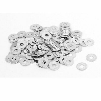 M2.5 x 7mm x 0.5mm White Zinc Plated Flat Washers Gaskets Spacers 100PCS