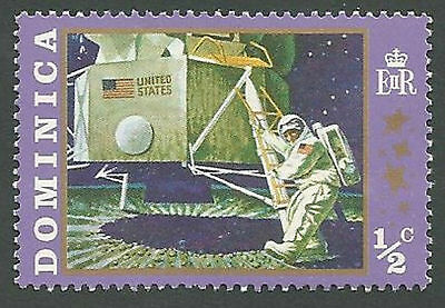 Dominica Scott# 291 Neil Armstrong, First Man on Moon, Unused OG Hinged 1970
