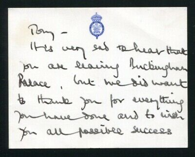 Fine Hand Written Autograph Card Prince Charles & Princess Diana Of Wales