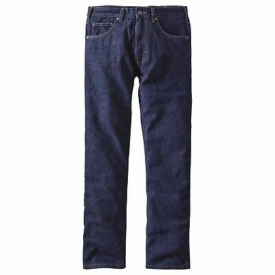 Patagonia Flannel Lined Straight Fit Jeans Pants Long Pantaloni casual