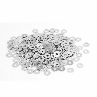 M3 x 8mm x 0.8mm White Zinc Plated Flat Washers Gaskets Spacers 300PCS