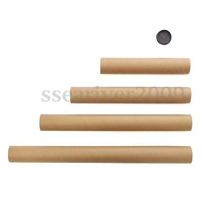 Strong Cardboard Postal Packing Tubes A4 A3 A2 A1 And Plastic Black End Caps