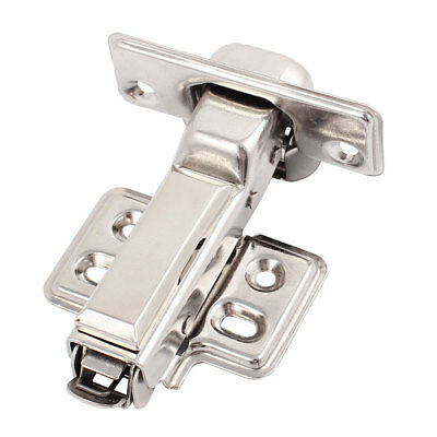 Furniture Closet 1.2mm Thick Buffering Hydraulic Half Overlay Hinge 1Pcs