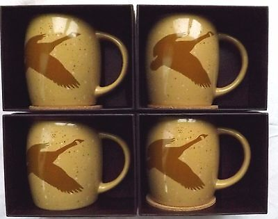 4 NEW 2016 Tim Horton's Christmas Limited Edition #16 Coffee Mugs Geese Gift Box