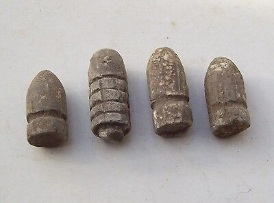 Lot lead bullets Beaumont rifle about 1860 detecting finds