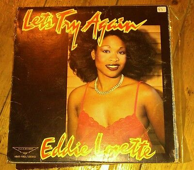 Eddie Lovette - Let's Try Again  Lp Pk Lp-1983 K&k Records Vg!