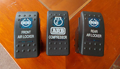 Land Rover - ARB 3 Diff Locker Carling Switches w Covers