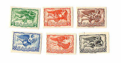 1942 Greece Stamps Airpost #C55-60 German Occupied Four Winds MNH WW2
