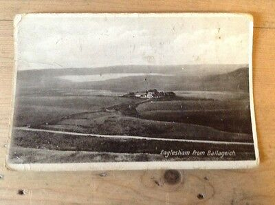Eaglesham East Renfrew from Ballageich Hill RPPC P/Used See Listing