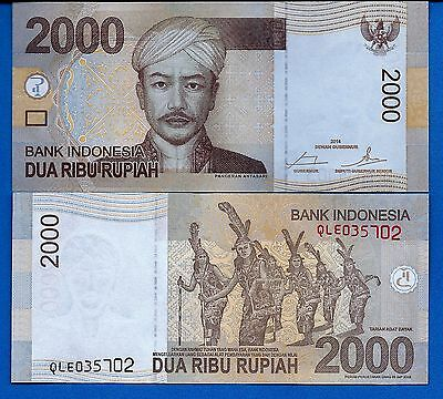 Indonesia P-148 2000 Rupiah Year 2014 Uncirculated FREE SHIPPING