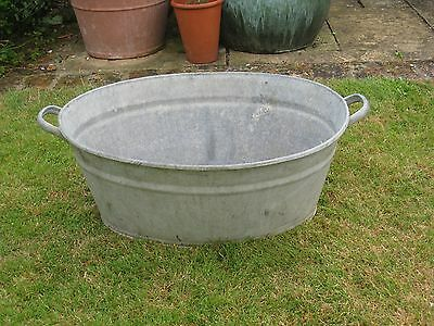 Galvanised Bath In Good Condition ( For A Garden Planter)