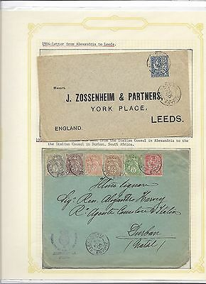Egypt French Post offices in, 1904 / 05 cover (#30985a)