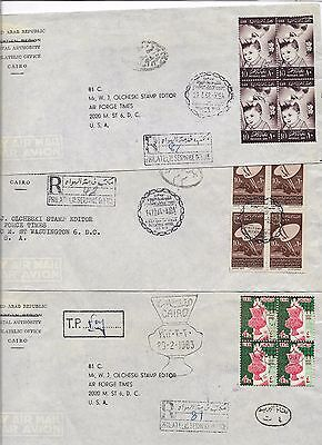 Egypt postage dues on commercial registered cover (#30989a)