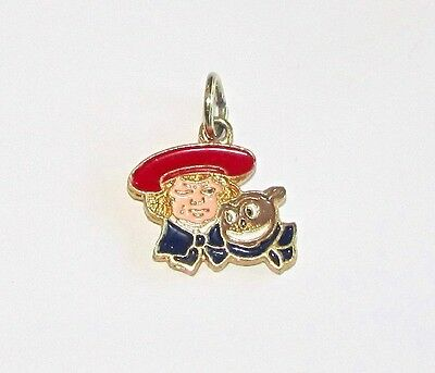 Colorful Buster Brown & Tige Gold Plated Enameled Charm