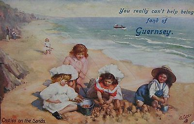 Castles In The Sand At Guernsea 1911 Pc