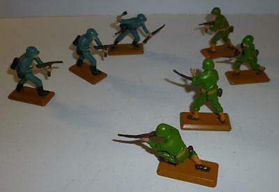 Britains Deetail 1970's German And Us Infantry Soldiers