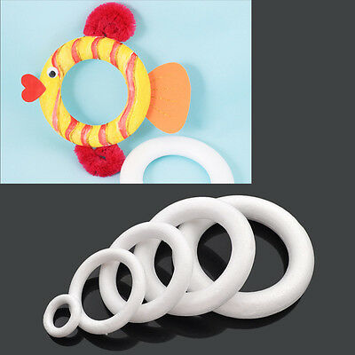 Foam Ring for DIY Creative Drawing Wreaths Fish Mickey Simulation Doughnuts