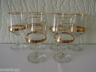 6 CHARLES & DI ROYAL WEDDING COMMEMORATIVE GLASSES 1981 14.5cm - ALL PERFECT