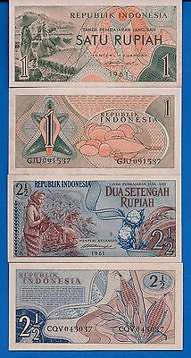 Indonesia P-78 & P-79 Year 1961 Uncirculated Banknotes Set #8