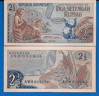 Indonesia P-79 1/2 Rupiah Year 1961 President Sukarn Uncirculated